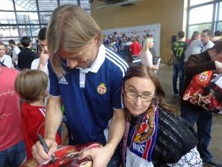 Anna Gałecka z podopiecznymi na stadionie Wisły